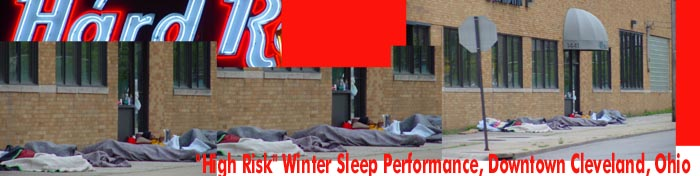 winter sleeping on the street in cleveland, ohio